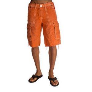 True Religion Men's Burnt Orange Issac Shorts 31